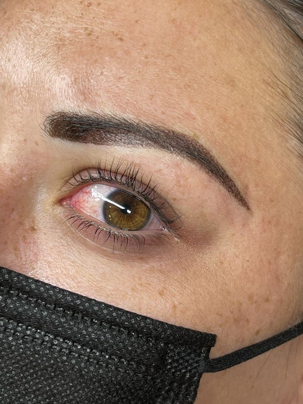 Powder brows and Microblading combo after treatment