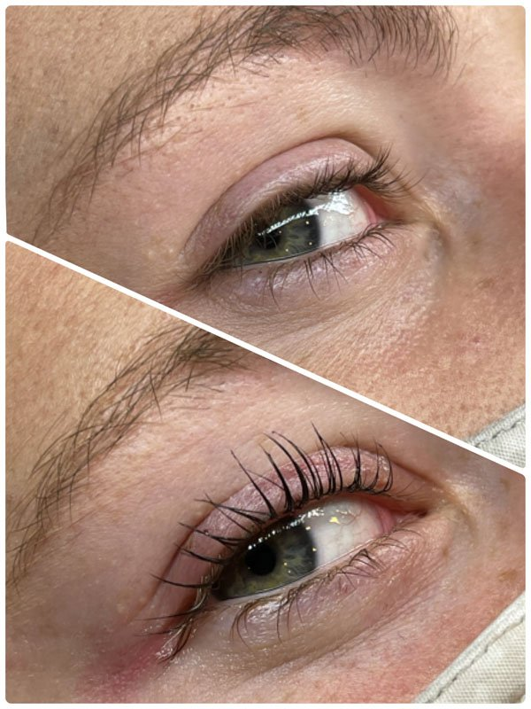 Eyeliner permanent makeup before and after treatment