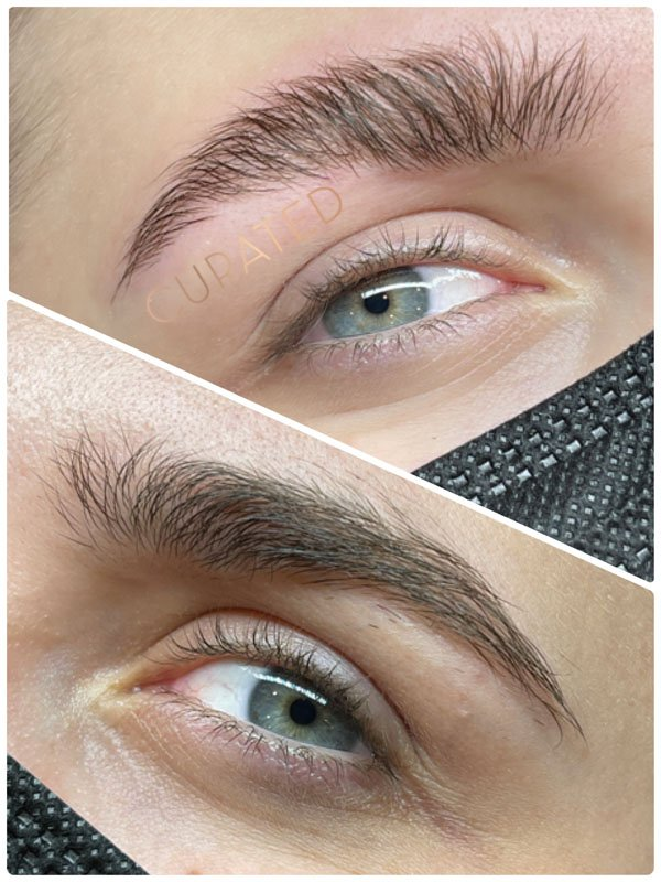 Brow Lamination before and after treatment
