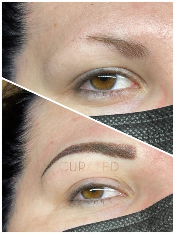 Microblading before and after treatment